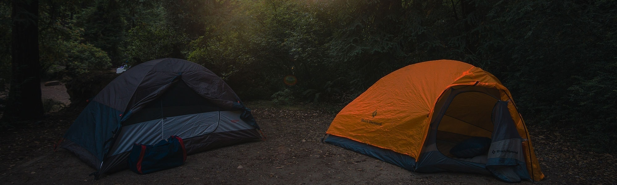 Hike Much Banner with two tents