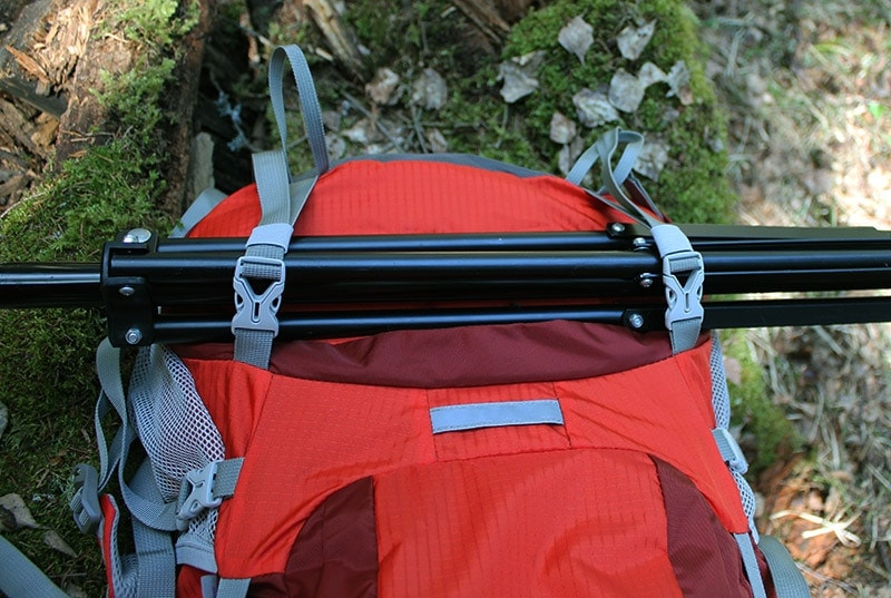 Adjustable bottom straps on the Mountaintop backpack