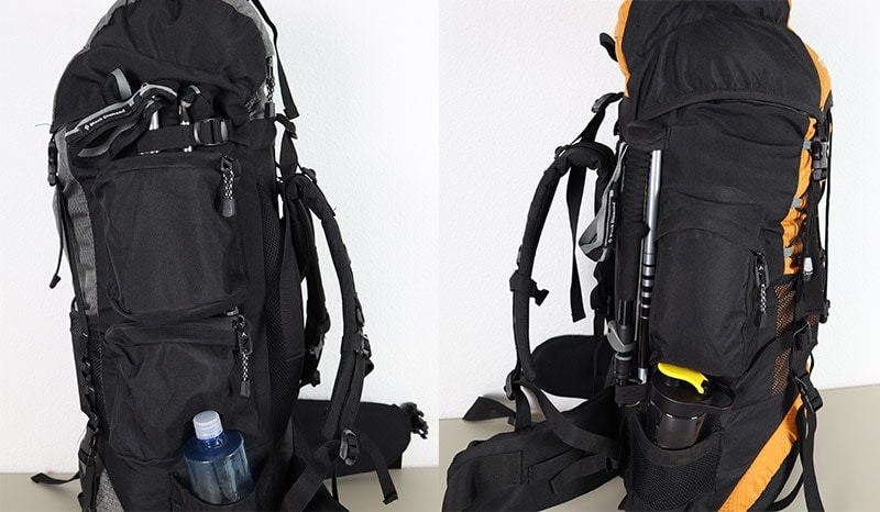 Comparing the Trekking Pole storage system on two Teton Sports backpacks