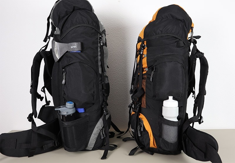 Comparing the side elements on both Teton Sports backpacks