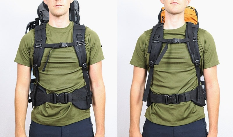 A man wearing the Teton Sports Explorer 4000 and Scout 3400 internal frame backpacks front view