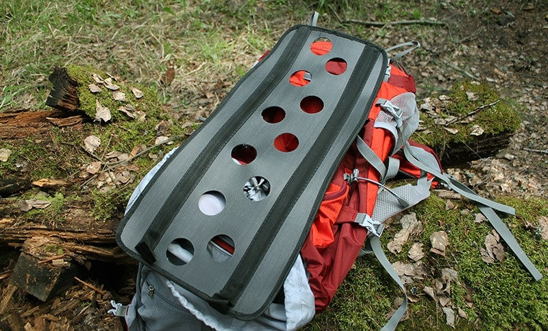 The internal frame of the Mountaintop backpack