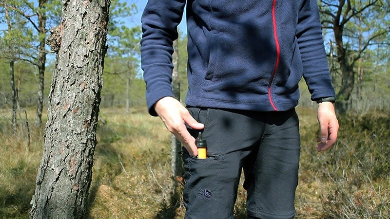 Putting the Sawyer Mini in a pocket