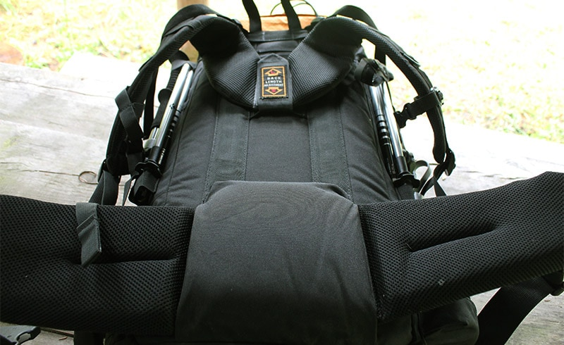 The back padding on the Teton Sports Scout 3400 internal frame backpack